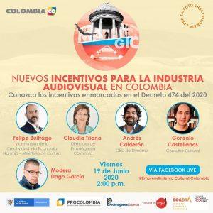 Nuevos incentivos para la industria audiovisual en Colombia
